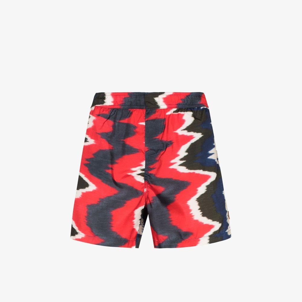 Missoni Red Patterned Swim Shorts