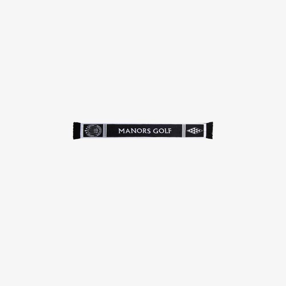 X Adidas Black And White Jacquard Knit Scarf