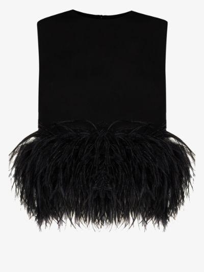 Dickinson sleeveless feather top
