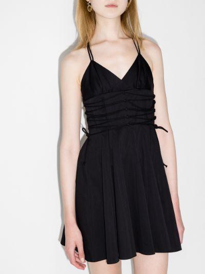 Katsina Lace-Up Mini Dress