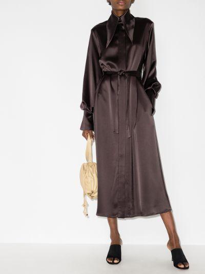 Namika Exaggerated Collar Midi Dress