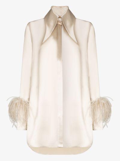 Seymour Feather Trim Longline Shirt