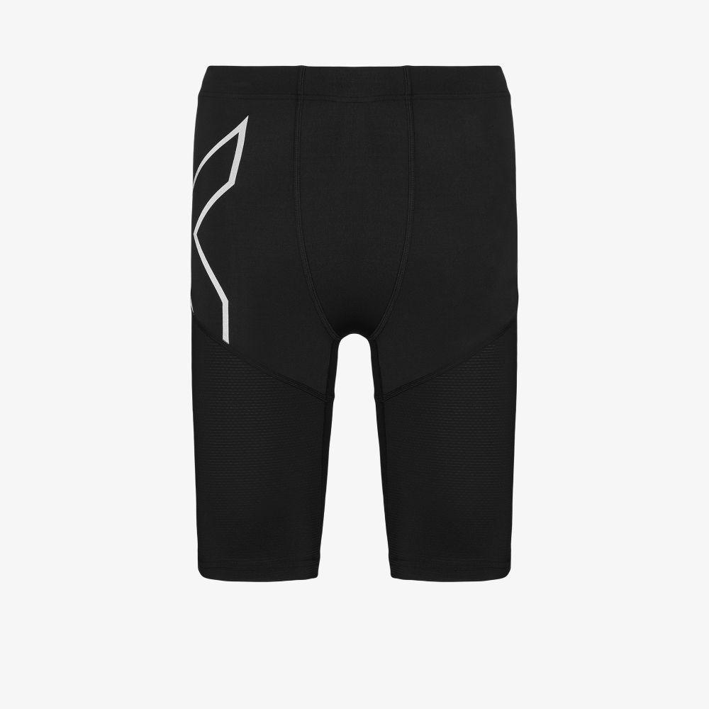 2xu Black Aero Vent Compression Shorts