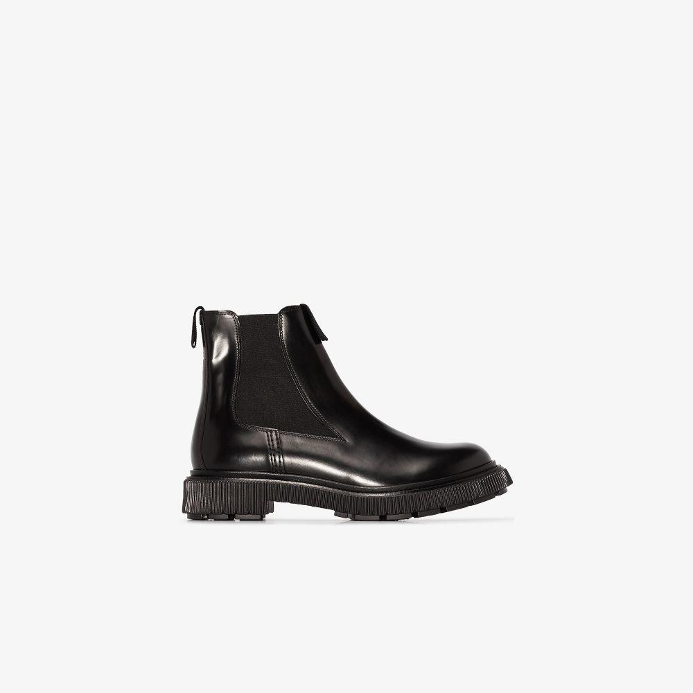 X Études Black Type 146 Leather Chelsea Boots