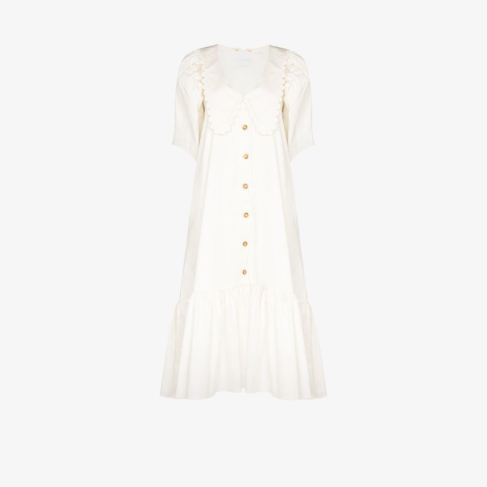 Consuelo Puff Sleeve Cotton Midi Dress
