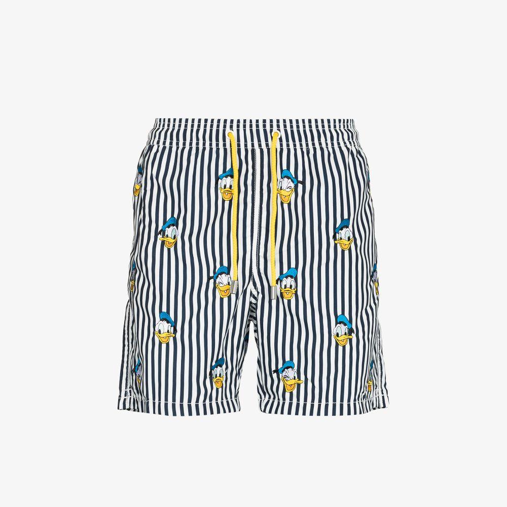 Mc2 Saint Barth Blue Donald Duck Embroidered Swim Shorts