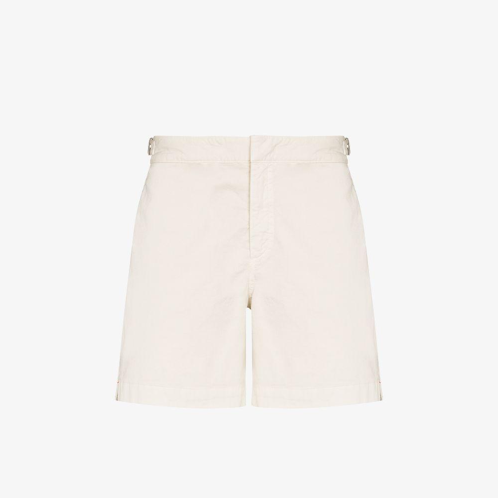 Orlebar Brown Neutrals Bulldog Cotton Shorts