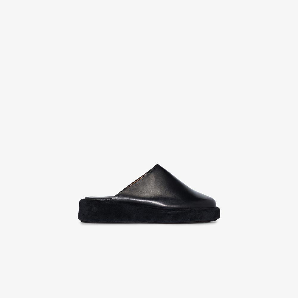 Black Ferrara 45 Leather Mules