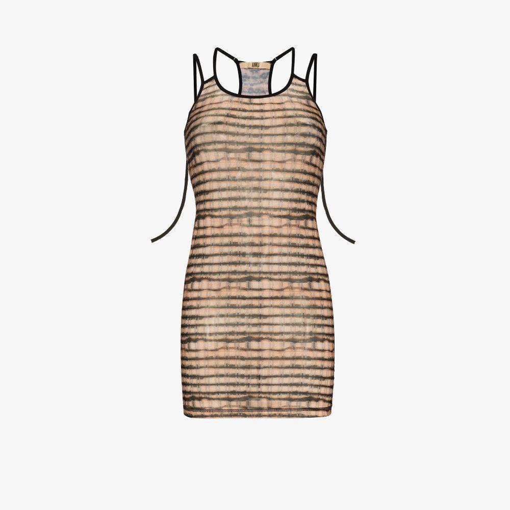 Vortex Printed Mini Dress