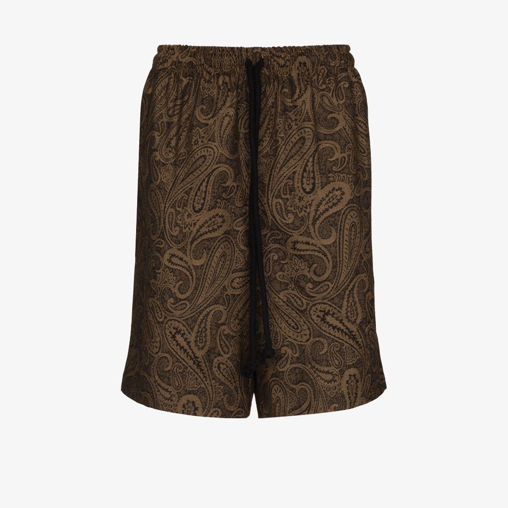 Paisley Wool Bermuda Shorts
