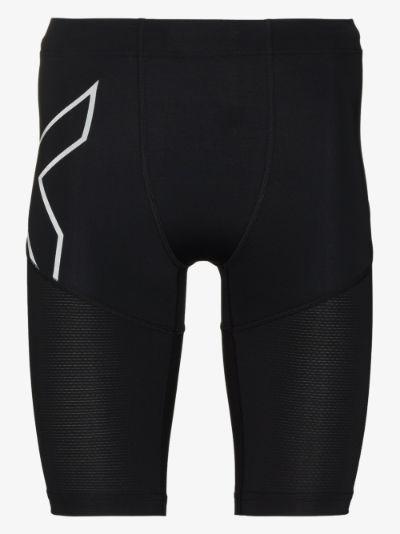 black Aero Vent compression shorts