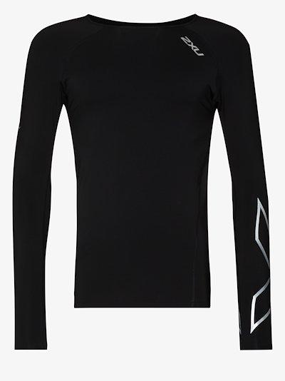 black compression top