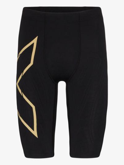 black MCS Run compression shorts
