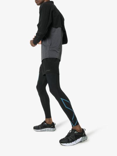 black MCS Run compression tights