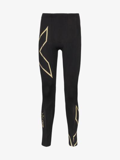 black reflective running leggings