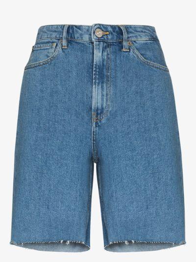 Claudia denim Bermuda shorts