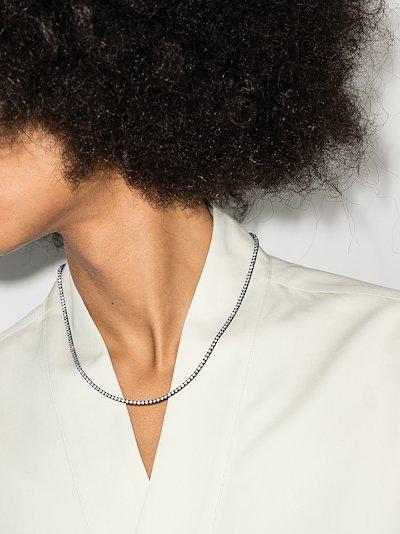 18K black gold diamond necklace