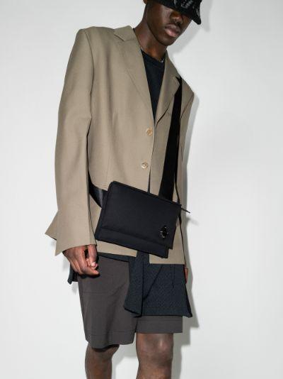 black holster strap messenger bag