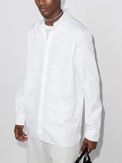 Erosion print shirt