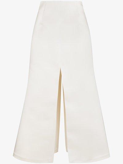 A-line high waist maxi skirt