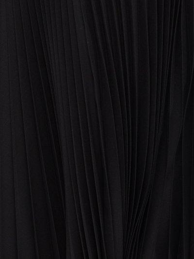 asymmetric pleated maxi skirt