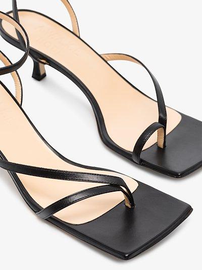black Delta 35 leather sandals