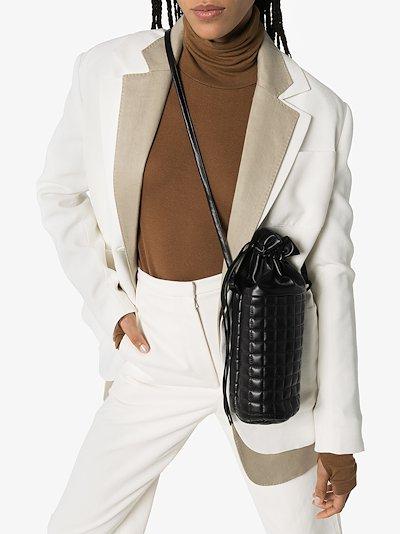 black Femke quilted bucket bag