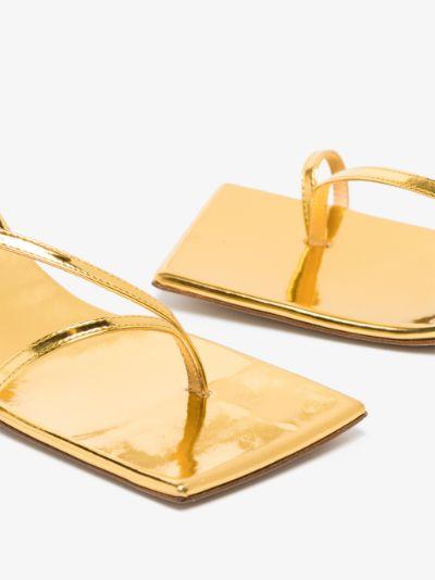 gold Delta 75 leather sandals