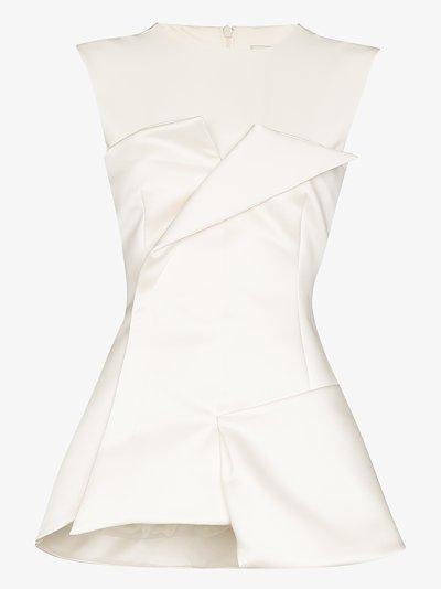Tuxedo corseted sleeveless top