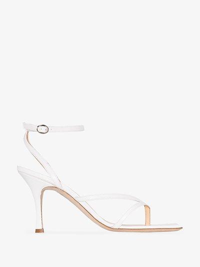 white Delta 80 leather sandals