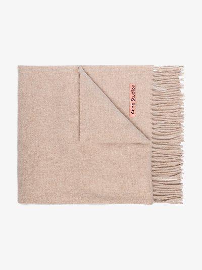 beige Canada wool scarf