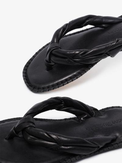 black Bema leather sandals