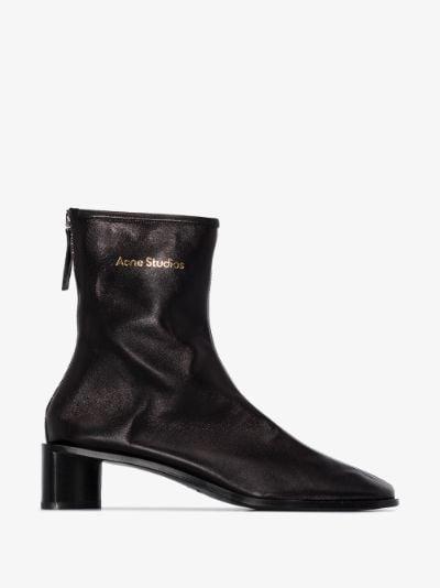 black Bertine 45 leather boots