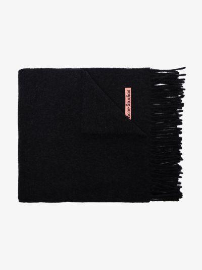 Black Canada wool scarf