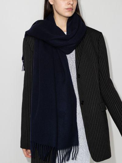 blue Canada wool scarf
