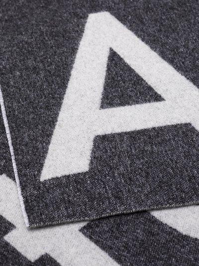 grey and white Toronty logo scarf