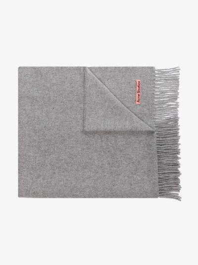 grey Canada wool scarf