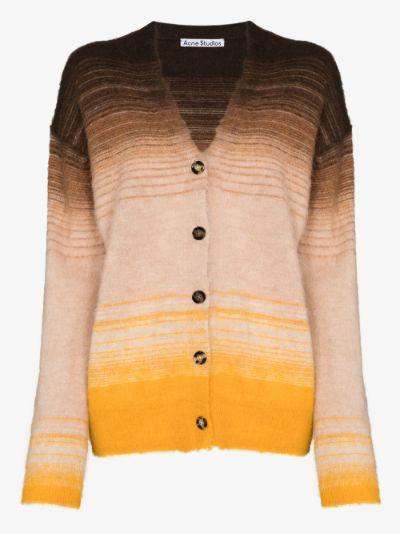 Kanpra gradient striped cardigan