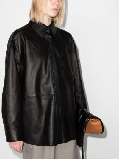 Lanelle Leather Shirt Jacket