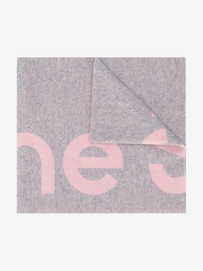 logo jacquard scarf
