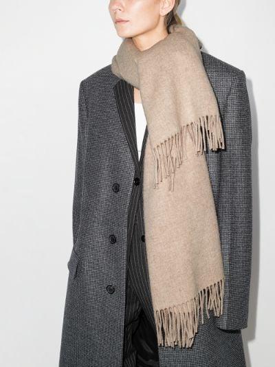 neutral Canada wool scarf
