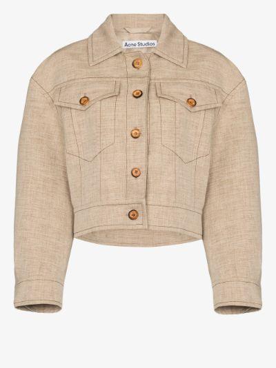 Otya contrast topstitched jacket