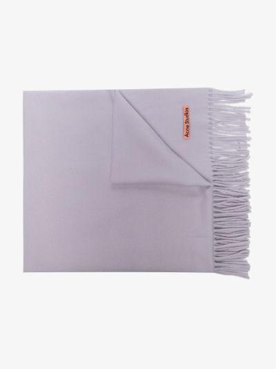 purple canada wool scarf