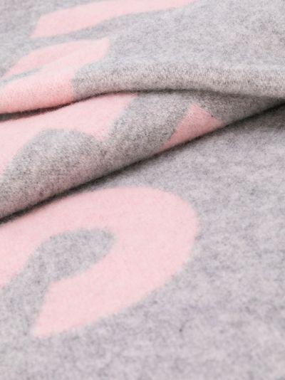 Toronty logo-jacquard scarf