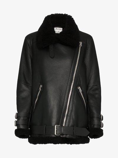 Velocite shearling aviator jacket