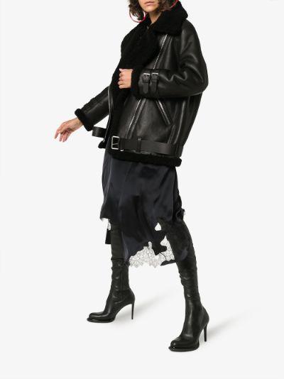 Velocite shearling leather aviator jacket