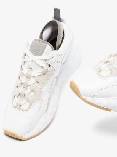 white manhattan leather sneakers