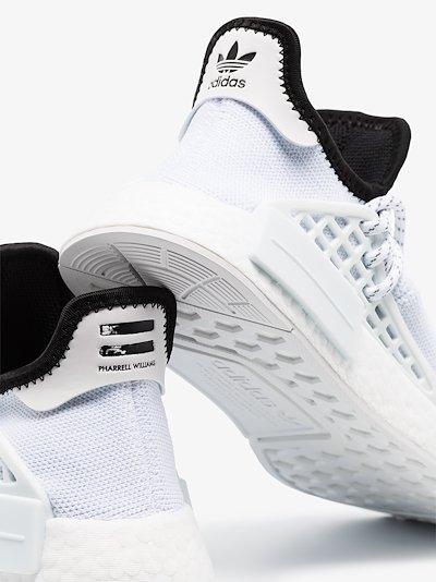 white HU NMD sneakers