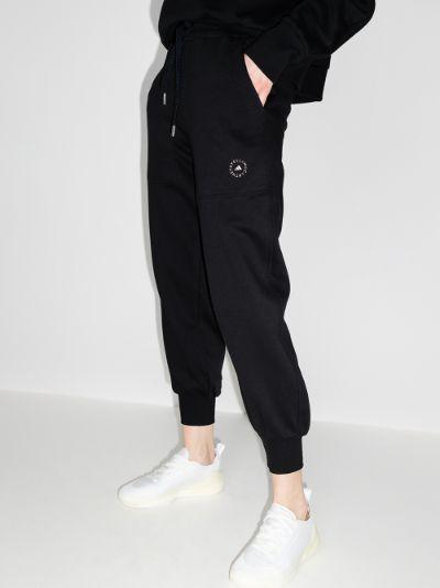 logo print cuffed track pants