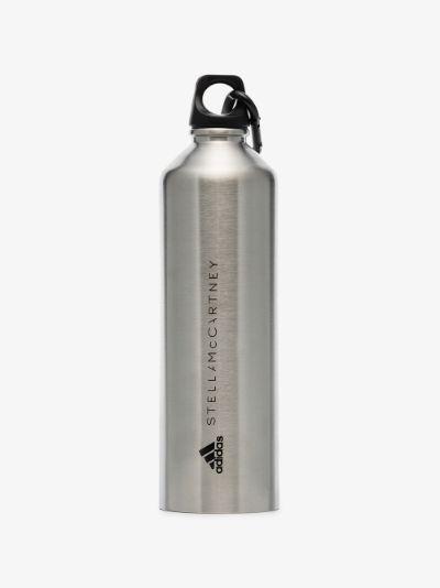 Silver tone metal water bottle